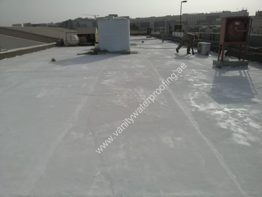 concrete roof waterproofing work dubai